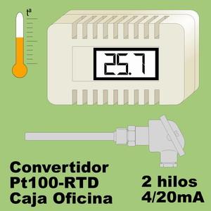 01c- Convertidor Pt100-RTD con sensor (caja oficina)