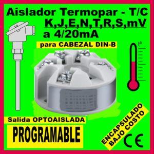 01g2- Encapsulado para Termopar T-C PROGRAMABLE (para cabezal DIN B)