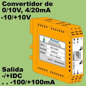 03d- Amplificador bipolar -100 - +100mA (entrada 0-10V, 4-20mA)