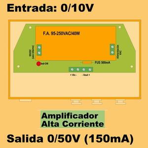 03g- Amplificador de 50VDC - 150mA (entrada 0-10V)