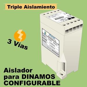 04d- Aislador de 3 vías 230VAC configurable multirango