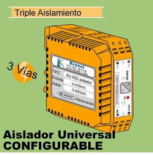 04h- Aislador de 3 vías 110-240VAC configurable y multirango