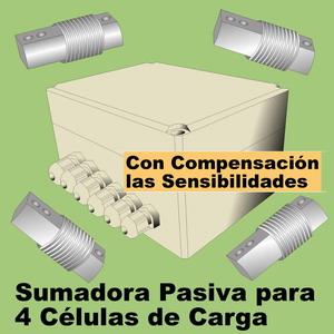 06a- Sumadora Compensadora para 4 células de carga. PASIVA