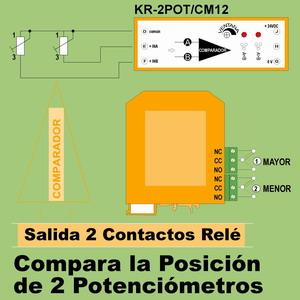 08f- Comparador 2 potenciómetros, salida 2 relés