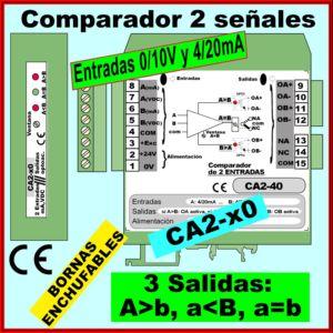 08g- Comparador 2 entradas VIDC, 3 salidas MAYOR, MENOR, IGUAL
