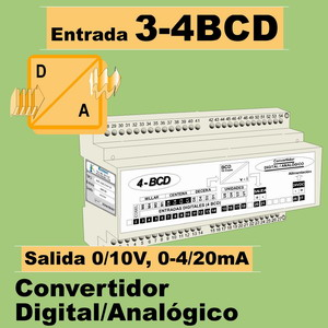 09d- Convertidor Digital 4 BCD a Analógico (0-10V, 4-20mA)