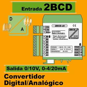 09d2- Convertidor Digital 2 BCD a Analógico (0-10V, 4-20mA)