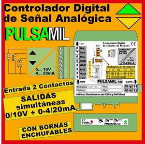 09f2- Controlador Digital de Señal Analógico (0-10V, 4-20mA) (Potenciómetro Motorizado Digital)