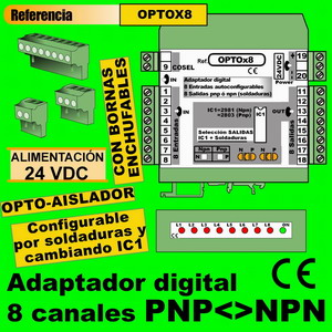 14e2- Adaptador digital PNP-NPN 8 canales