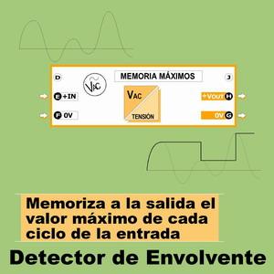14f- Detector de envolvente. Memoria en la salida el valor máximo de cada ciclo de entrada