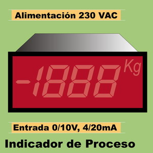 15c- Indicador 3´5 Digitos LED. 4-20mA, 0-10V a 230VAC