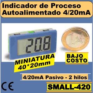 15b2- SMALL-420 Indicador LCD Autoalimentado miniatura (40x20mm)